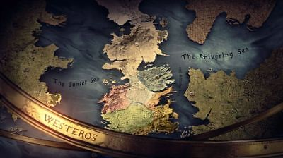 156004 Game Of Thrones Houses Map Westeros TV Show Wall Print Poster CA