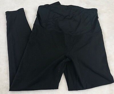 Isabel Maternity Black Active Leggings with Crossover Back Panel Size Medium