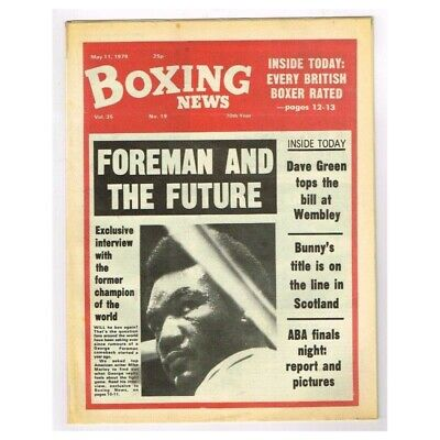 Boxing News Magazine May 11 1979 MBox3431/F Vol.35 No.19 Foreman and the future