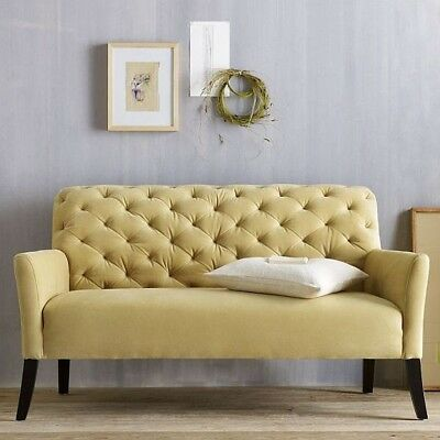 Classic and Elegant Yellow Tufted Sofa from West Elm - Used