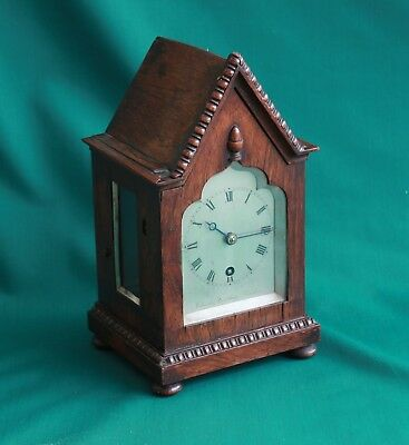 Miniature Gothic Bracket clock by Charles Frodsham