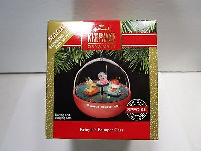 Hallmark Ornament- Kringles's Bumper car  1999  Lighted