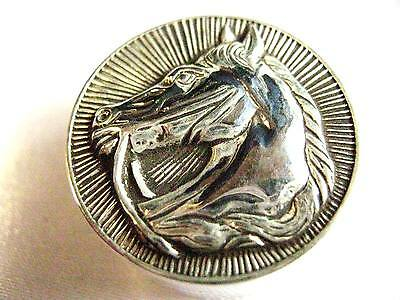 Sterling Silver Stallion Horse Snuff trinket Pill box Dressage equestrian Hunt