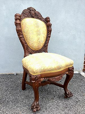 Rarest Of All Of R J Horner Dining Chairs. Carved 1890s