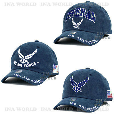 U.S. AIR FORCE hat Washed Cotton USAF Military Official Licensed Baseball  cap e1214b32f836