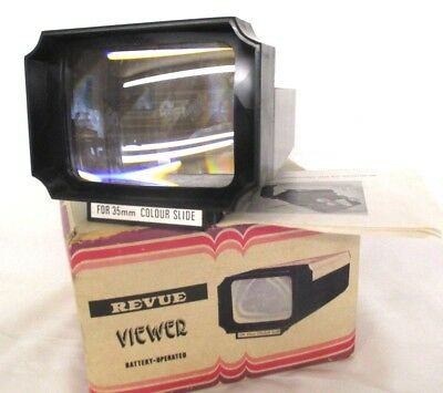 REVUE Viewer Battery Operated For 35mm coloured slides