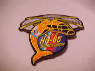 U.s. Coast Guard Hh-65 Dolph Copter Patch Shoulder Size New