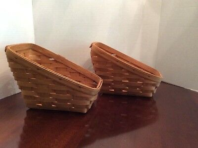 Lot of Two Longaberger Small Vegetable Baskets 1992 and 1994