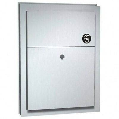 New ASI 0472 Sanitary Napkin Disposal Dual Access Partition Mounted