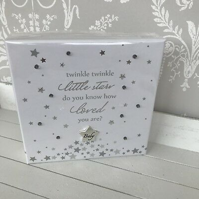 New Nursery LED Wall Plaque twinkle twinkle Little star grey and white gift