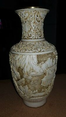 Antique carved Chinese vase