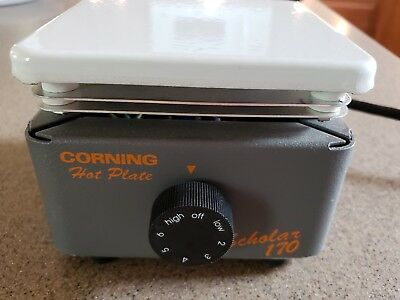 "CORNING 6795-170 SCHOLAR 170 LABORATORY HOT PLATE 5"" x 5"""