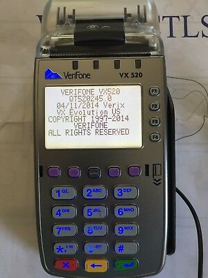 Verifone VX 520 CTLS Credit Card Processing Terminal Machine Reader EUC