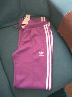 d383b3c622d6 Womens adidas Originals Firebird Track Pants In purple / white BNWT