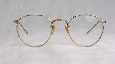 Oliver Peoples clip-on attachment OP47, w/ B&L eyeglass FulVue size 45-20 1/10 1