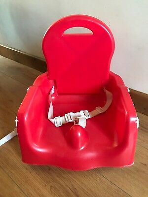 Mothercare Creative Booster Seat - Portable holiday high chair, red - no tray