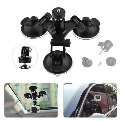 Car Windshield Triple Vacuum Suction Cup Mount Holder for Gopro Action Camera