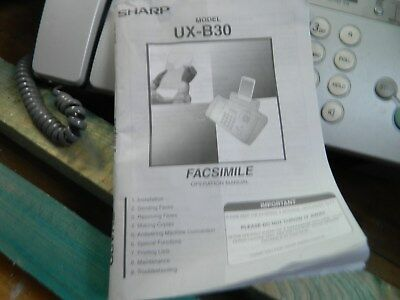 fax machine sharp includes instructions
