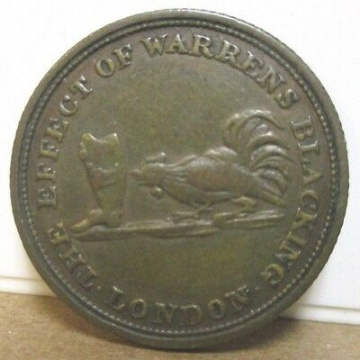 ND c1800s, UF-2980, Unofficial Farthing, Middlesex, London, Cock & Boot Blacking