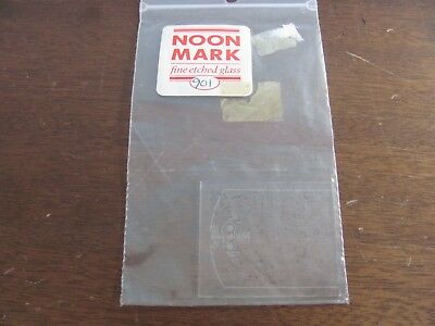 Dollhouse Miniature Noon Mark Etched Glass Window 901 for HW 5000-02