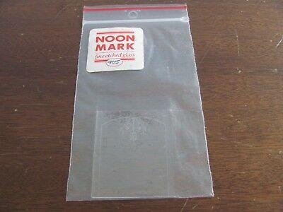 Dollhouse Miniature Noon Mark Etched Glass Window 905