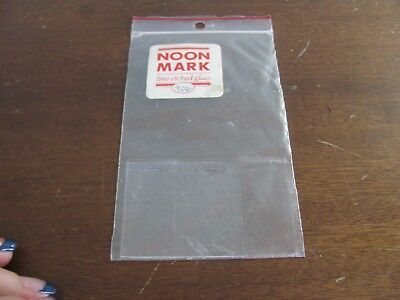 Dollhouse Miniature Noon Mark Etched Glass Window 906