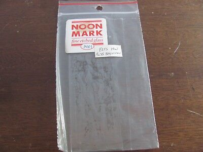 Dollhouse Miniature Noon Mark Etched Glass Window 1401 Long