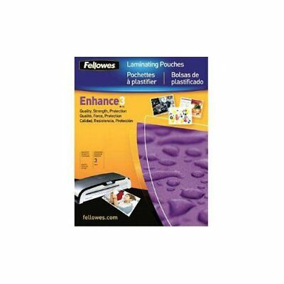 100 Fellowes Hot Laminating Pouches Pre Punched Id