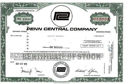 Penn Central Company, 1978  (1.000 Shares)