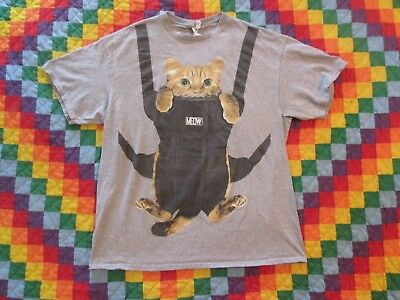 Meow Baby Bjorn Cat Carrier T-Shirt Orange Tabby Feline Humor XL Mobile Kitty