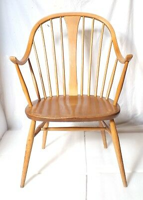 Ercol 1960s chair model 514 windsor bow cowhorn chairmaker armchair carver