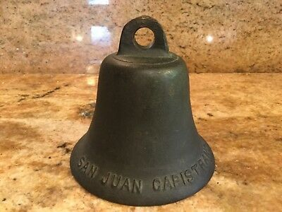 Antique California Old Mission Bell San Juan Capistrano Bronze