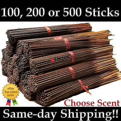 Premium Incense Sticks Aroma Depot Hand Dipped 100 200 500 Pack Pick Amount Bulk
