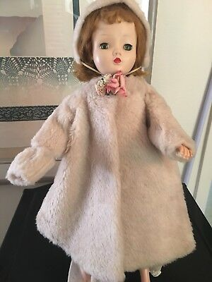 Vintage 1950s Madame Alexander Cissy Fur coat, Hat And Muff. NO DOLL
