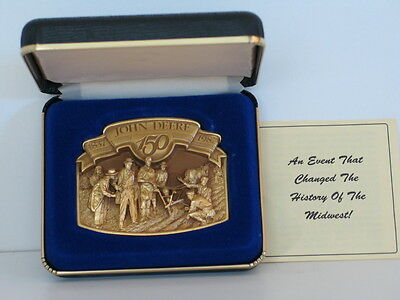 1987 John Deere Gold Plated Limited Ed 150th Anniversary Belt Buckle #4978/6000