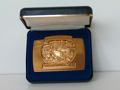 1992 John Deere Gold Two Millionth Lawn & Grounds Care Product Belt Buckle #1744