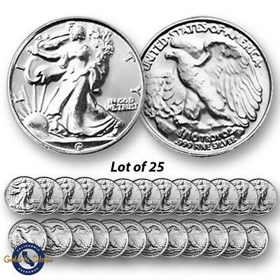 Lot of 25-- New 1/10 oz Liberty Design .999 Fine Silver Rounds
