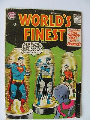 World's Finest #96  (1958)  10c cover.