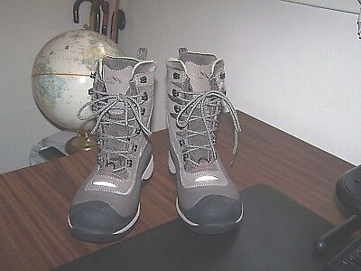 LL Bean Womens TEK 2.5  Brown Leather Waterproof, Insulated Boots, 8 Med.- EUC.
