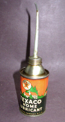 Vintage 'texaco Home Lubricant' Oil Can - 'excellent Condx' - Great Aged Patina