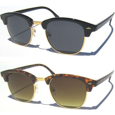 a892b12f7ae7 Classic Half Frame Sunglasses Classic Vintage Inspired Browline Retro Soho  Style