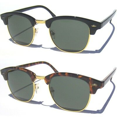 866bd452329c Classic Half Frame Sunglasses Vintage Inspired Browline Retro Soho Style  Shades