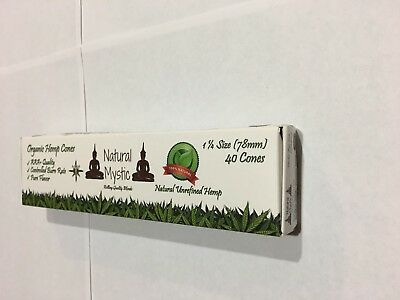 Pre Rolled Cones Rolling Papers – Prerolled Cone - 40 Pack Pre-Rolled White Raw