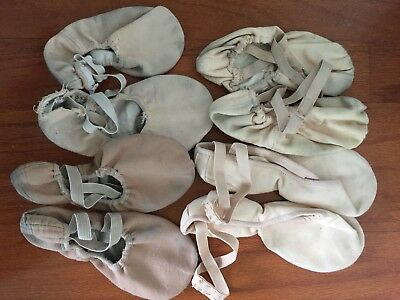 Assortment Of Used Ballet Dance Flat Shoes