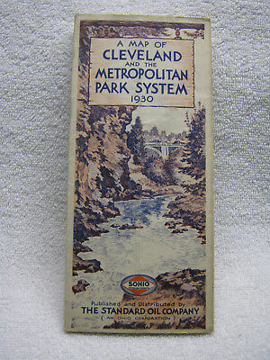 Antique Sohio Gas Oil Company 1930 Cleveland Road Map