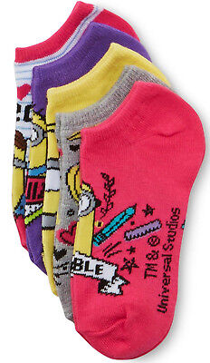 Despicable Me Minions Girls 5 Pairs Socks Size 6-8.5