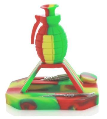 """7"""" ELEV8 Silicone Grenade Honey Funnel and Station Concentrate Pipe"""