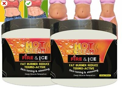 Hot Cream 8 Oz Cellulite Treatment Fat Burner reducing 100% NATURAL hot cream