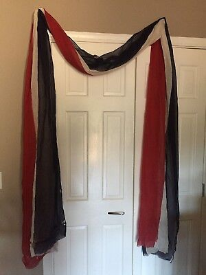 Antique bunting in red white & blue vintage fabric original flag bunting *READ*