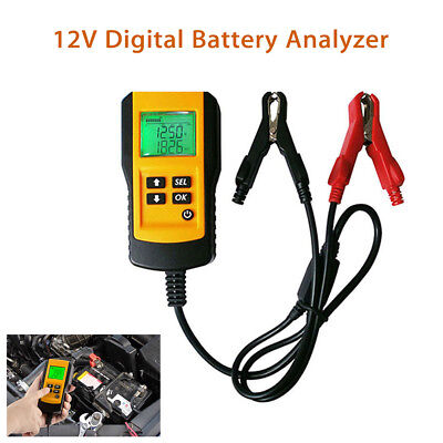 Yellow Professional 12V Digital Battery Load Tester Analyzer Shaking-Resistant